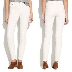 Madewell High Riser Skinny Jeans in Pure White